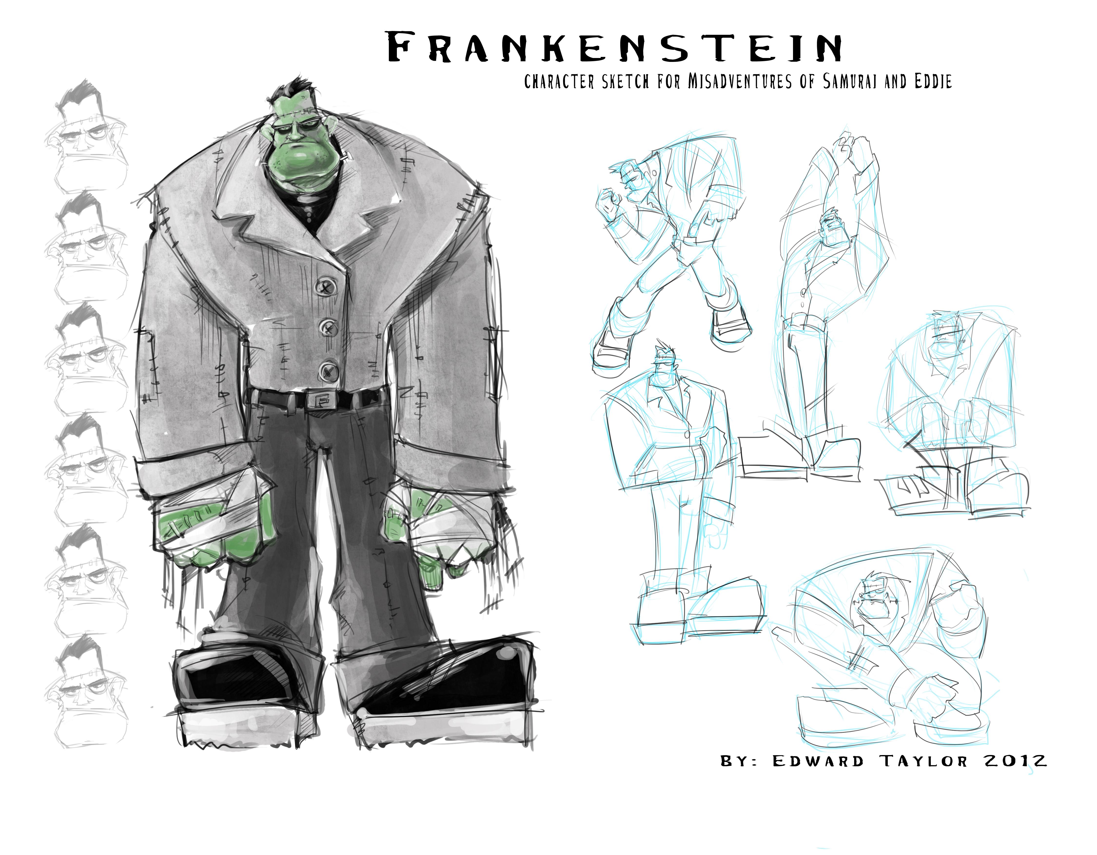misadventure character sketch  frankenstein  u2013 edwardian taylor
