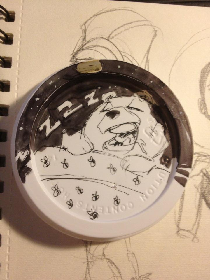 Starbucks lid character continued.