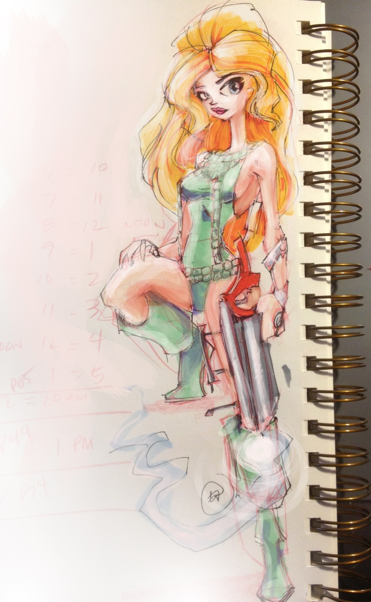 Barbarella quick sketch