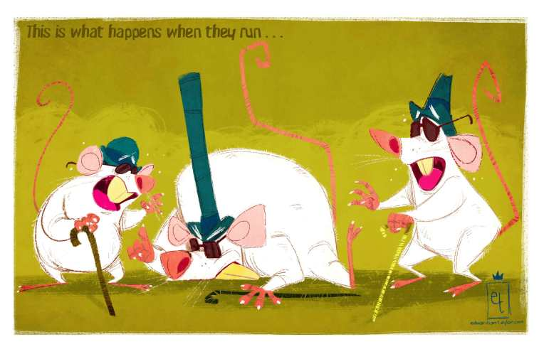 What Happens When the Three Blind Mice Run?